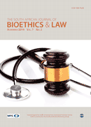 South African Journal of Bioethics and Law