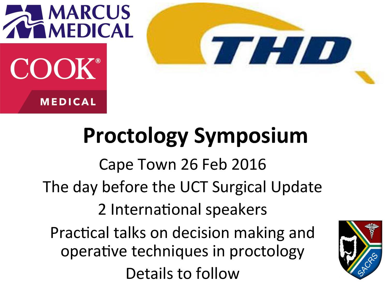 flier proctology symposium 2016