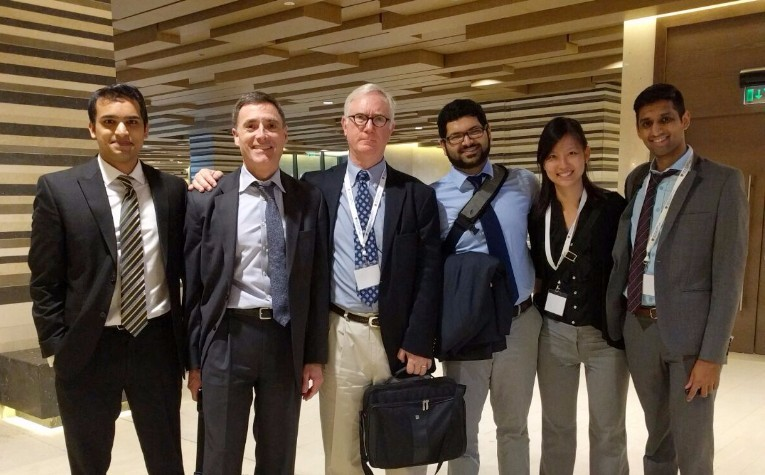 From Left to Right: Dr. Nakul Raykar and Dr. John Meara (LCoGS), Dr. Walt Johnson (WHO), Dr. Swagoto Mukhopadhyay, Dr. Yihan Lin, and Dr. Saurabh Saluja (LCoGS)