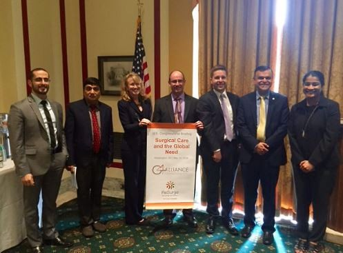 """Advocates for """"Surgical Care and the Global Need"""" at the of the U.S. Congressional Briefing on Global Health."""